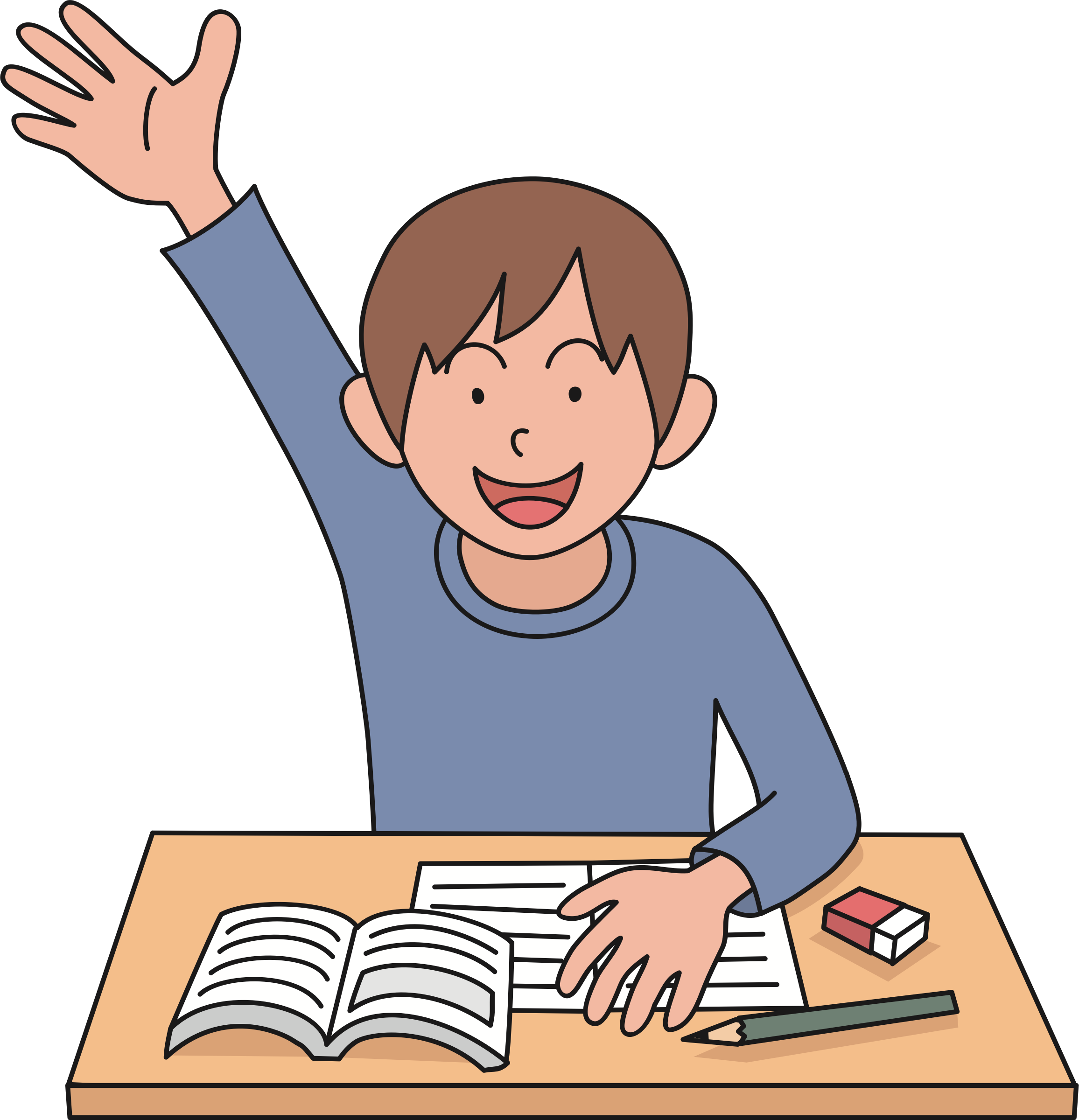 Kid raising hand clipart clipart images gallery for free download.