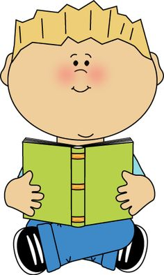 Kid reading book clipart » Clipart Station.