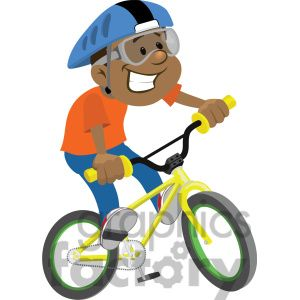 boy riding a bike clip art image clipart. Royalty.