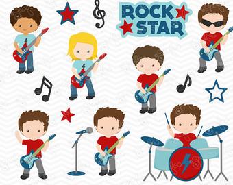 Kid rock star clipart.