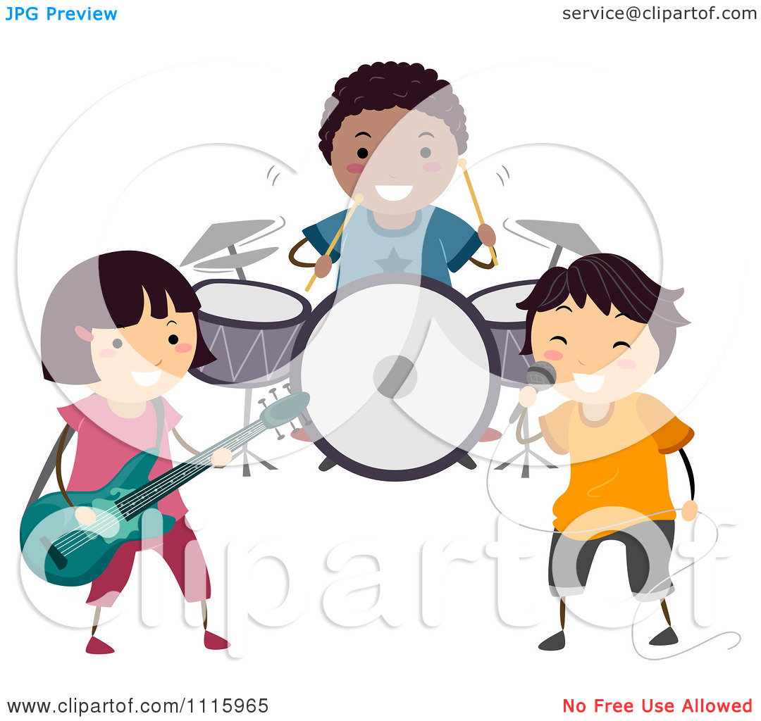 Rock Band Clipart Clipart Happy Diverse Kids In #H8NFzN.