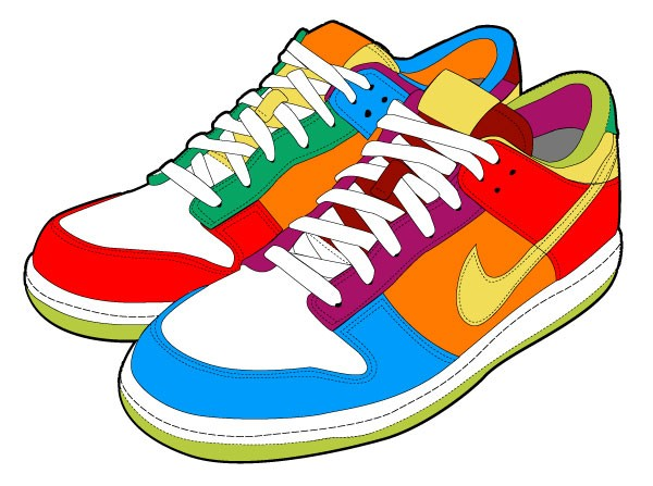 Kids shoes clip art.