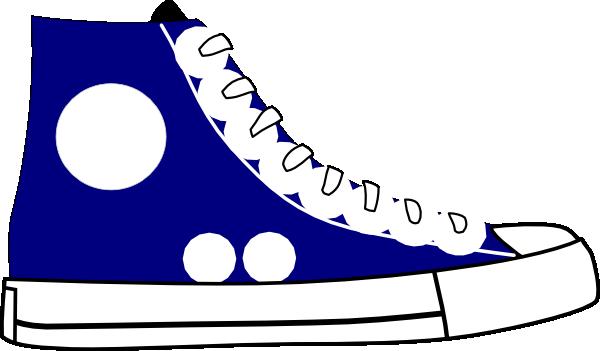 Cartoon Tennis Shoe Clipart.
