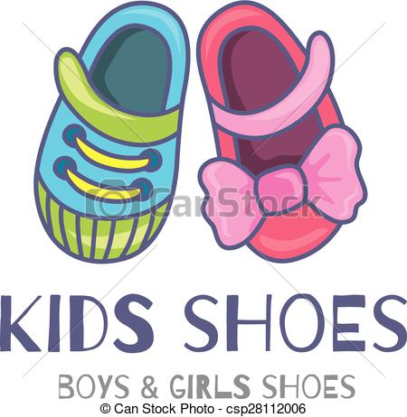 Kids shoes circle clipart.