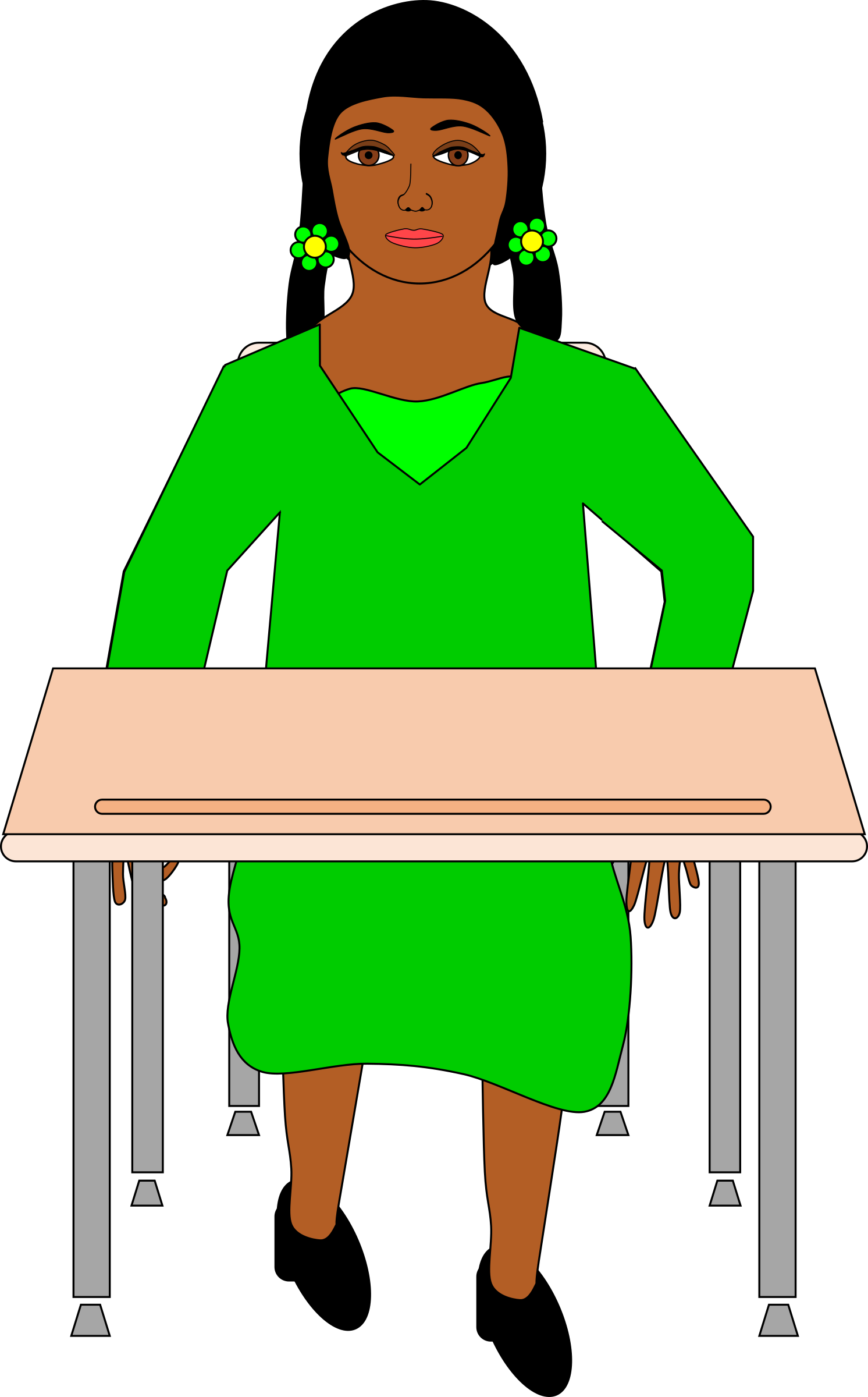 Girl Sitting At Desk Clipart Clipart Kid.