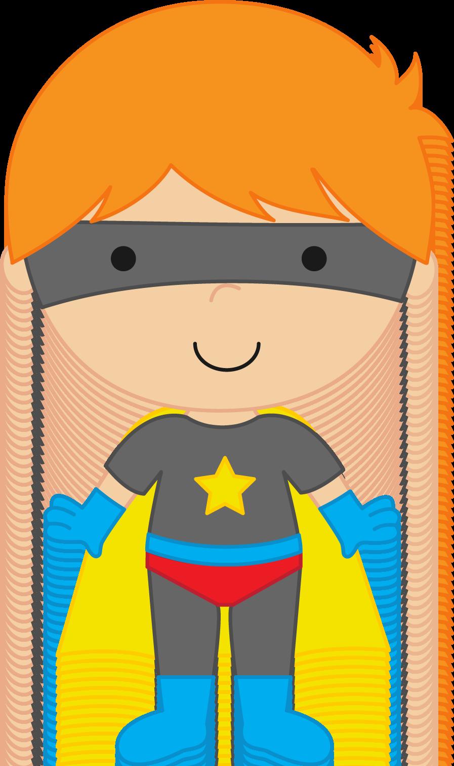 Super Hero Kid Clipart.