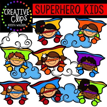 Superhero Clipart KIDS {Creative Clips Clipart}.