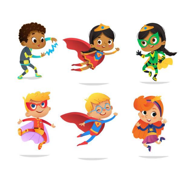 Best Superhero Kid Illustrations, Royalty.
