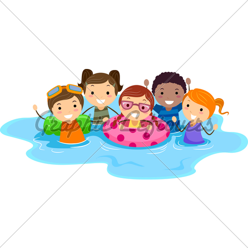 Kids Swimming Pool Clipart.