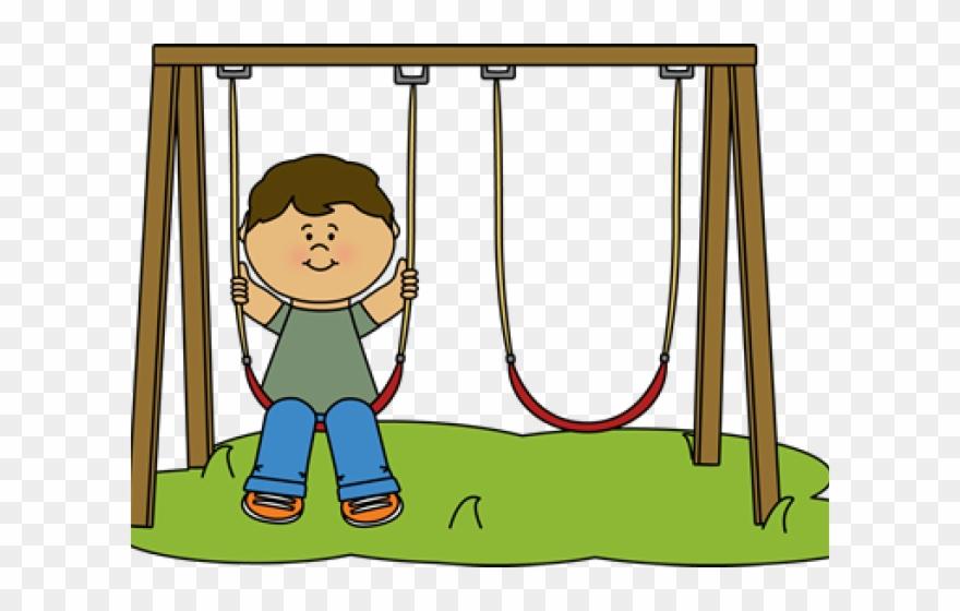 Kids Swinging Clipart.