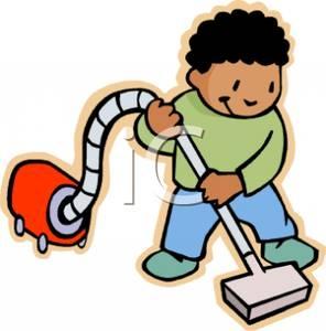 Kid Vacuum Clipart.