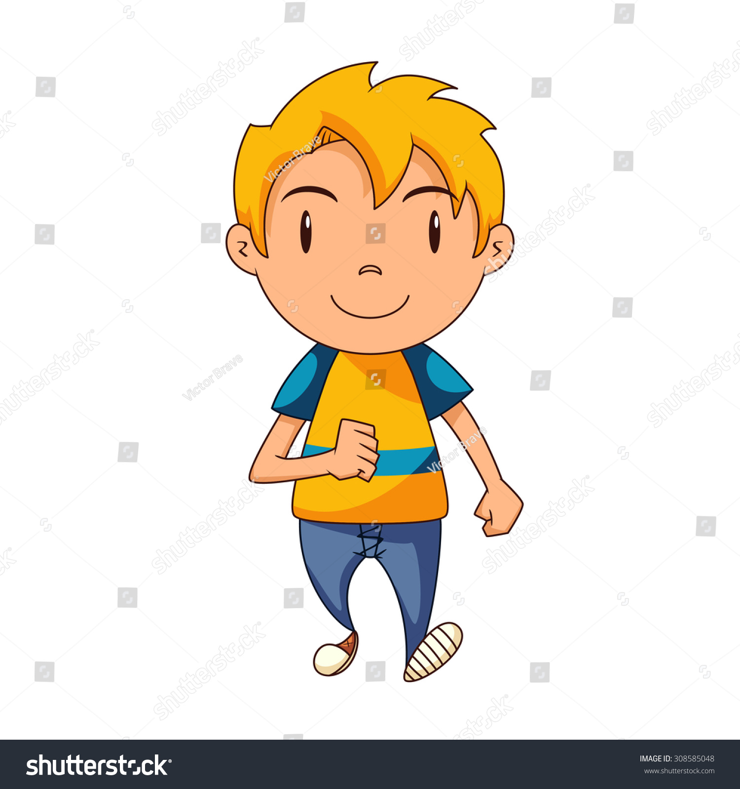 Kid walking clipart » Clipart Station.