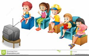 Kid Watching Tv Clipart.