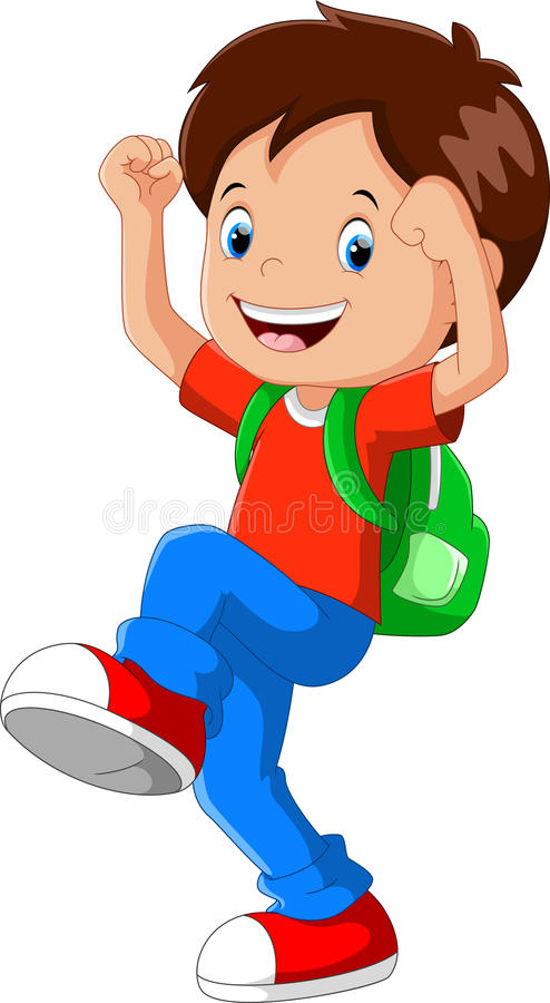 Kid with backpack clipart 3 » Clipart Station.