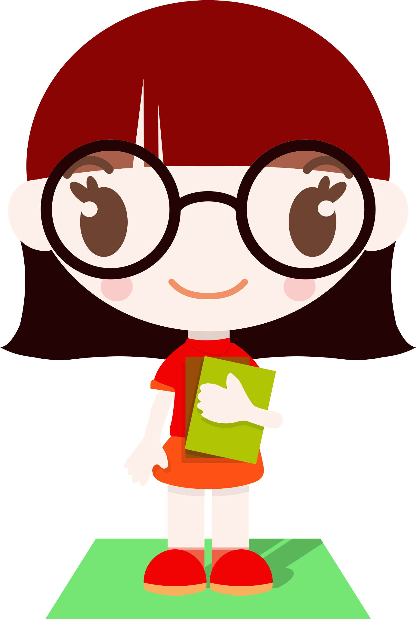 It is a graphic of Adorable Drawing Of Kid With Glasses