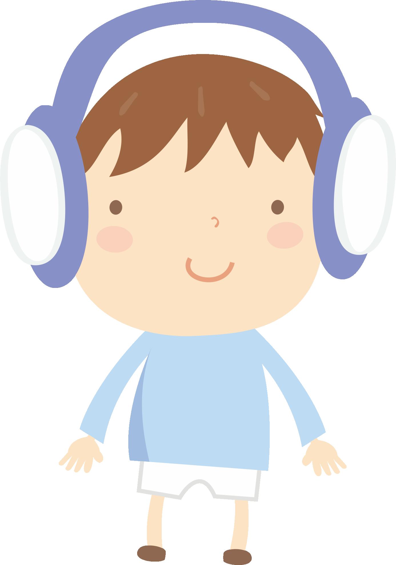 Headphone clipart boy, Headphone boy Transparent FREE for.