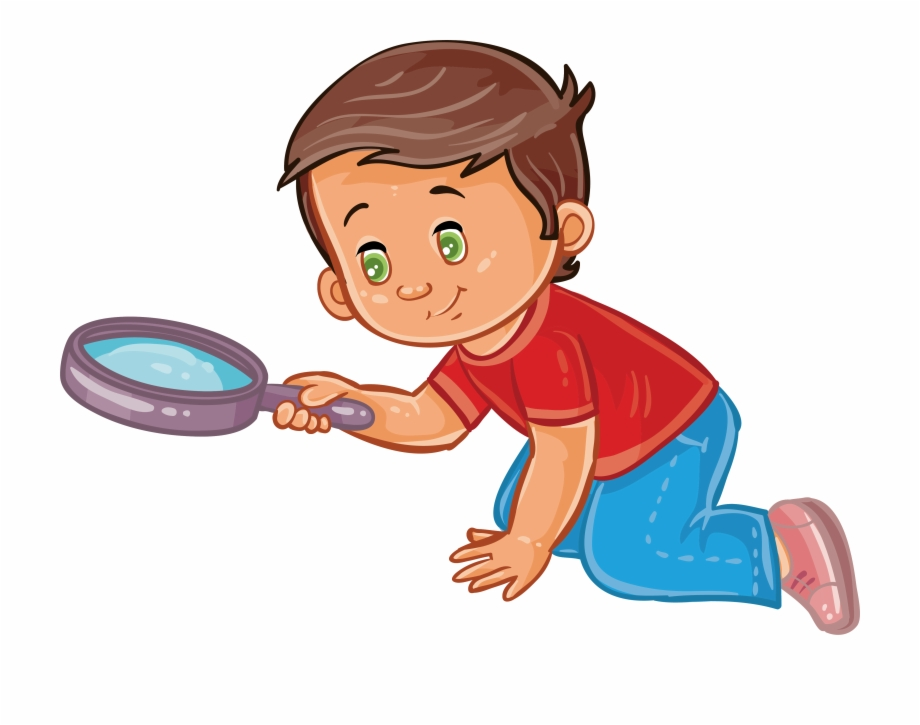 Boy Magnifying Glass Clip Art A With Ⓒ.