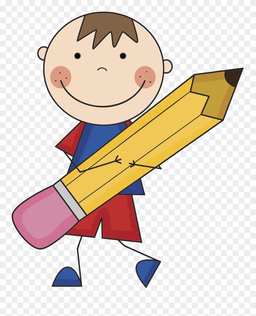Boy With Pencil Clipart.