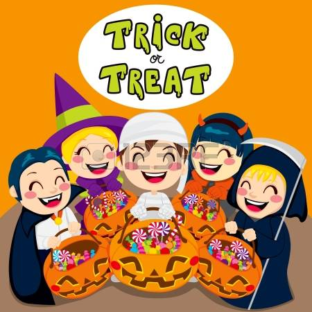 3,367 Trick Or Treat Kids Stock Vector Illustration And Royalty.