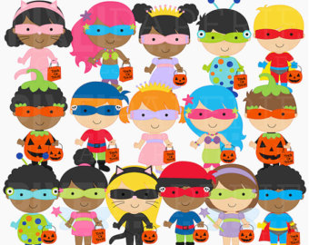 Items similar to Halloween clip art, trick or treat Halloween.