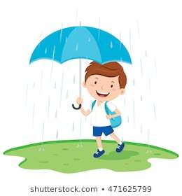 Boy with umbrella clipart 2 » Clipart Portal.