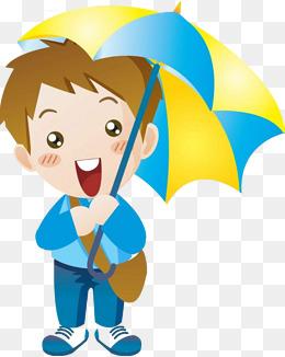 Boy With Umbrella Png & Free Boy With Umbrella.png Transparent.