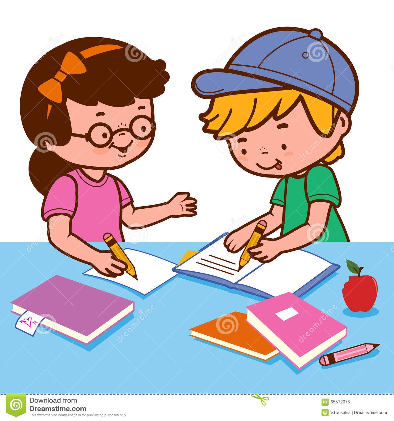 Kids working clipart 4 » Clipart Station.