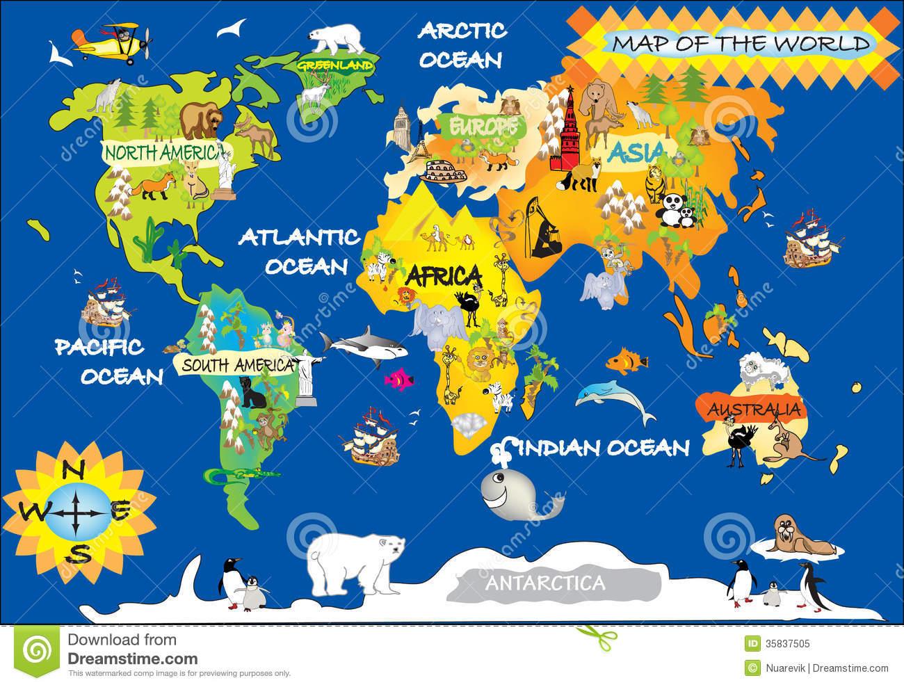 Kid World Map.