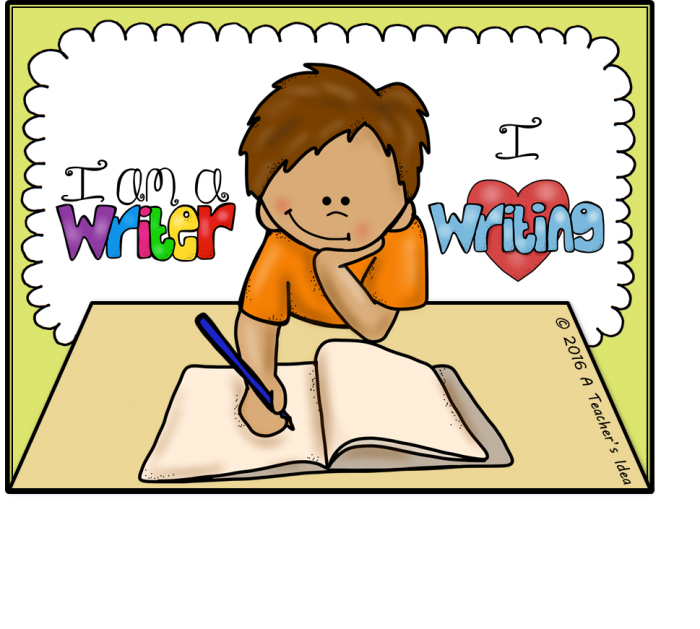 Kid Writing Clipart Vector, Clipart, PSD.