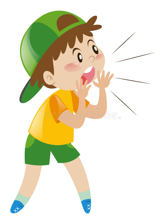 Kid Shouting Stock Illustrations.