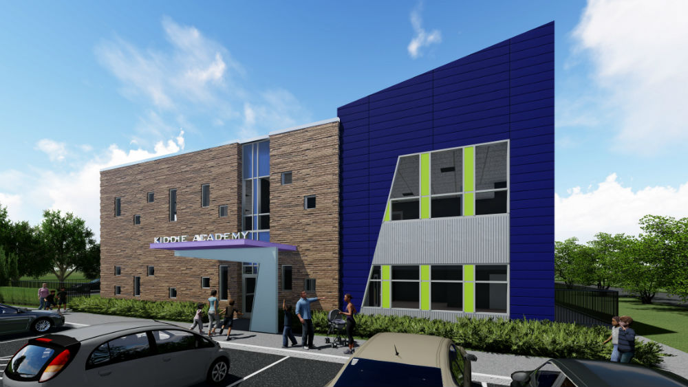 New Kiddie Academy under construction on Canterwood Drive.