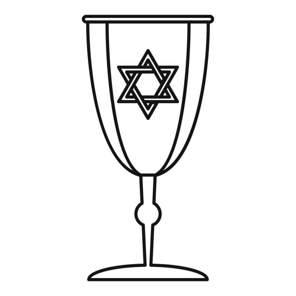 Best Kiddush Cup Illustrations, Royalty.