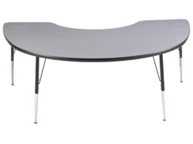 Group Study Adjustable Kidney Shaped Preschool Table 72x48.
