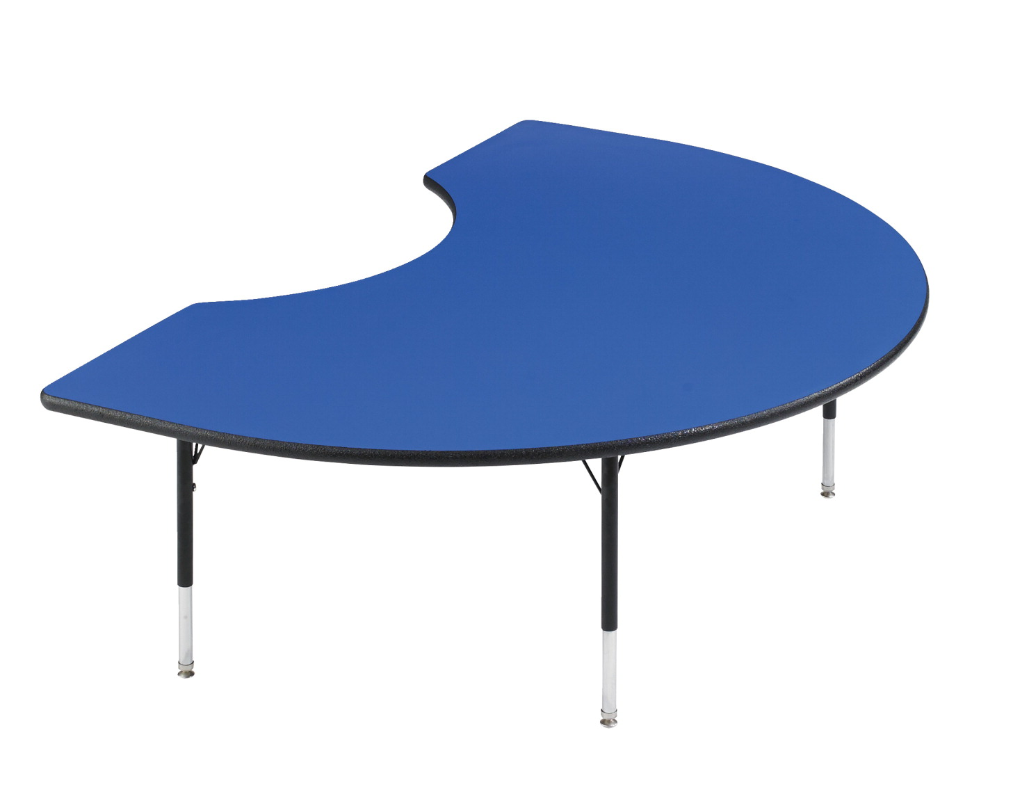 Classroom Select Adjustable Activity Table, Kidney, 72 x 48 Inches,  LockEdge, Various Options.