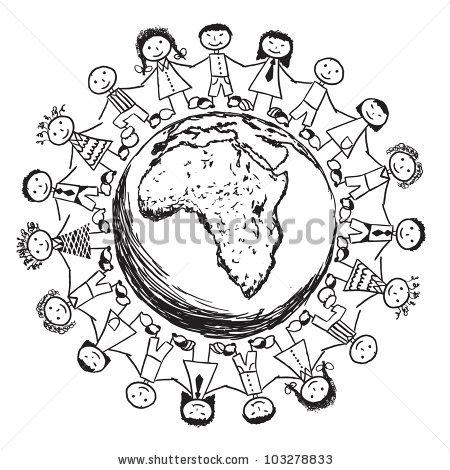 Doodle Children Around World Australia Stock Vector 103278836.