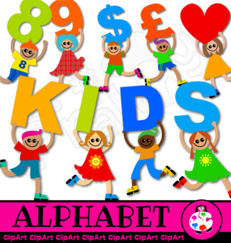Kids Alphabet School Learning Clip Art.