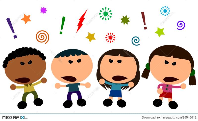 Kids Arguing Illustration 25546612.