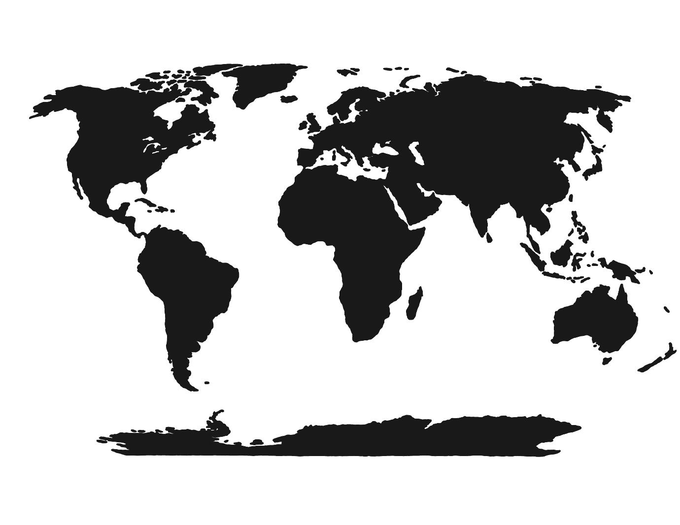 World Map Black And White Continents Printable Blank Template For.