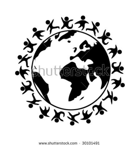 Children Holding Hands Around World Stock Illustration 10993222.