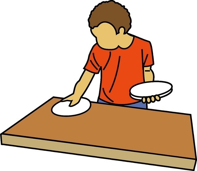 Child Setting The Table Clipart.