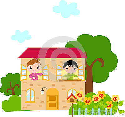 Childlike House Home Clip Art Stock Photos, Images, & Pictures.