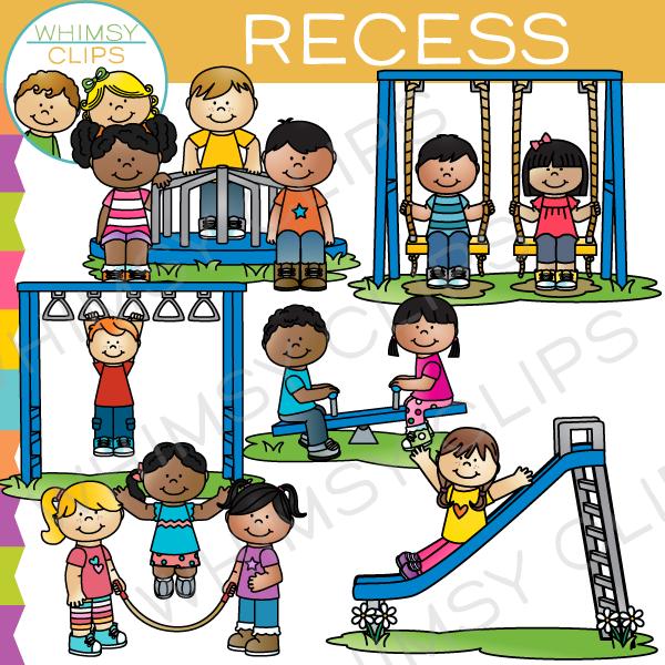 Kids Recess Clip Art.