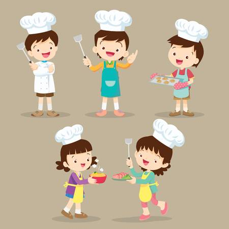 1,303 Kids Baking Stock Vector Illustration And Royalty Free Kids.