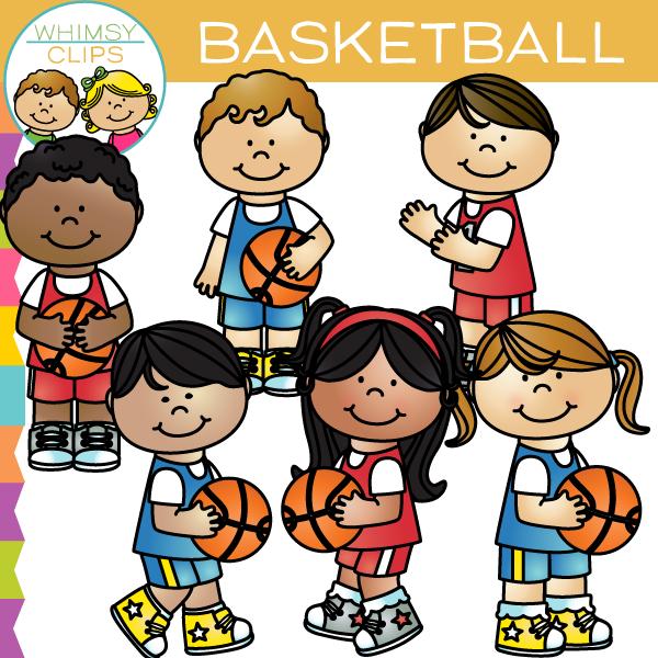 Kids Basketball Clip Art.