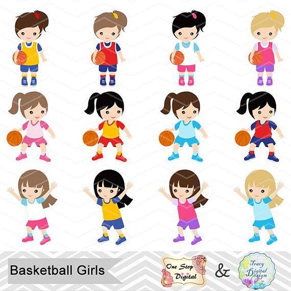 Digital Girls Basketball Clipart Girl Basketball Digital Clip.