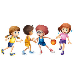 Basketball Kids Clipart Vector Images (85).