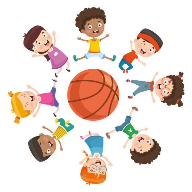 Best Boys Basketball Illustrations, Royalty.