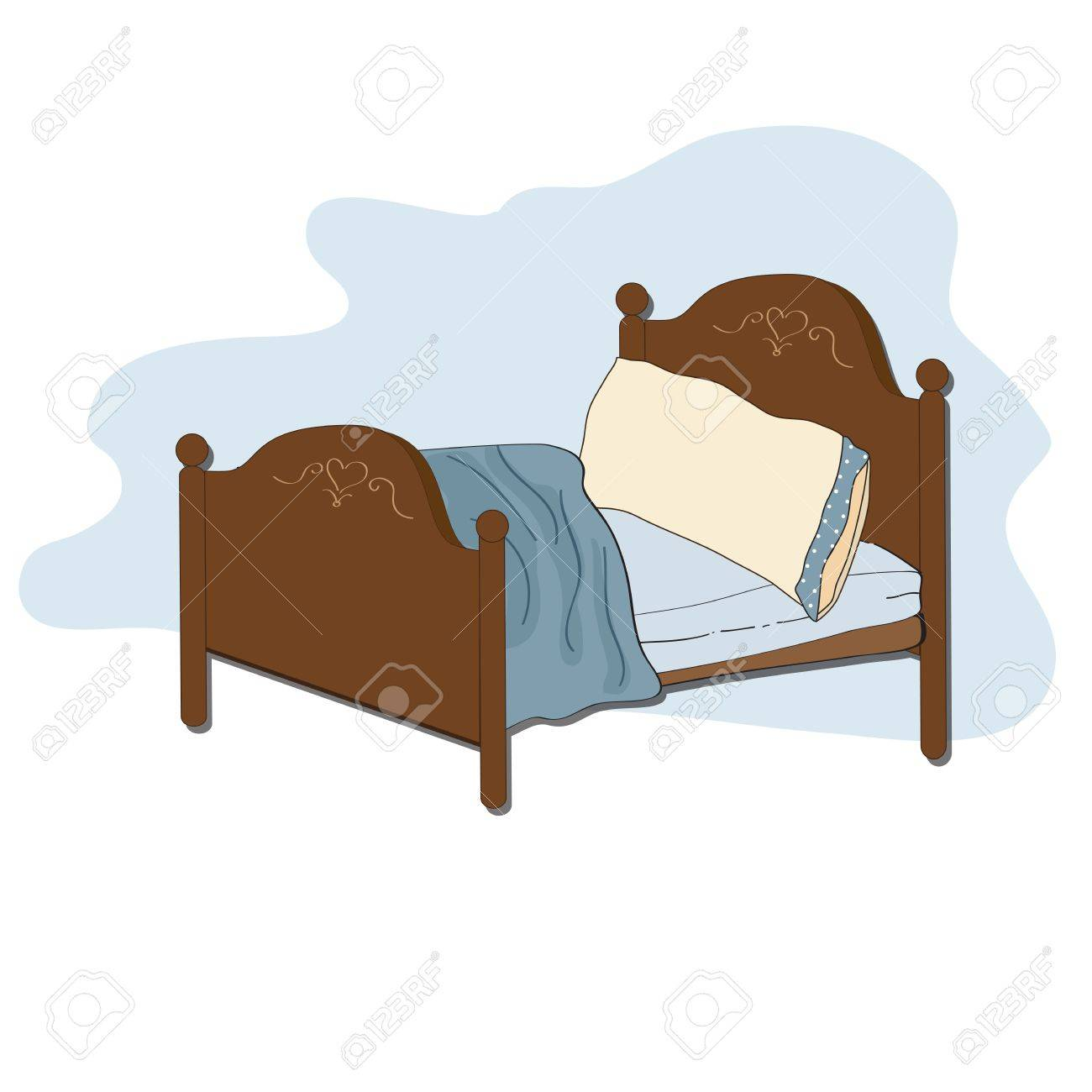 kid bed, illustration in vector format.