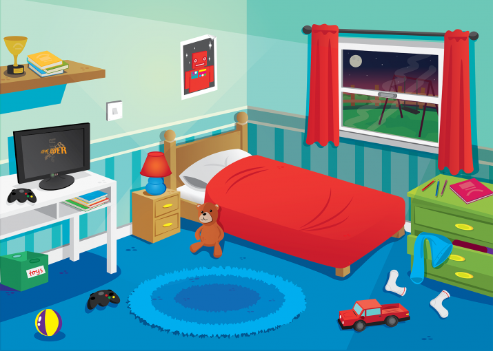 Bedroom illustration , home decor interior design , @agniestates.