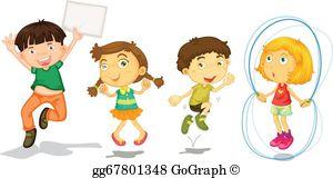 Active Kids Clip Art.